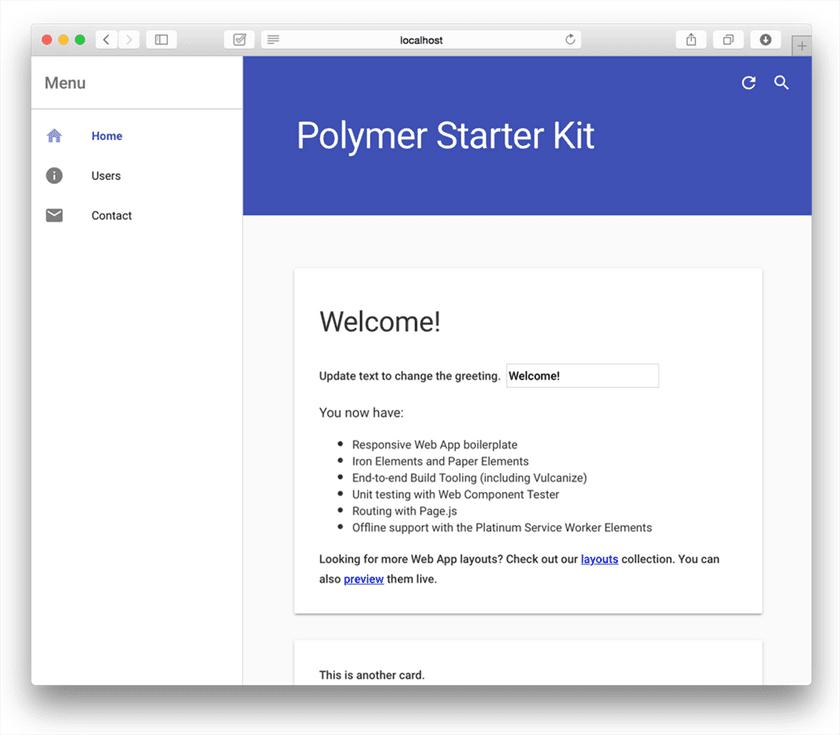 Polymer Starter App