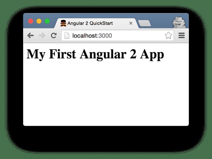 First Angular 2 App