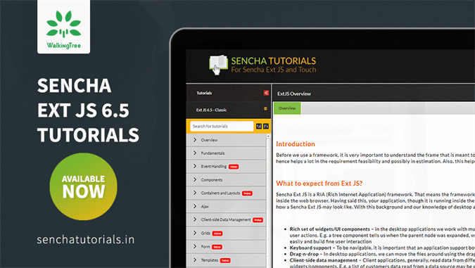 Sencha Ext JS 6.5 - Classic tutorials are available now! - WalkingTree Blogs