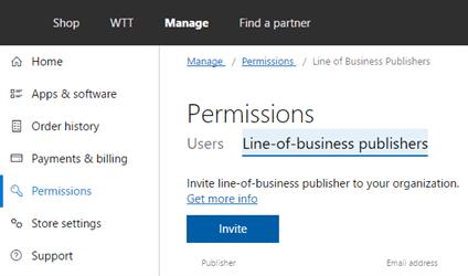 LOB Permissions