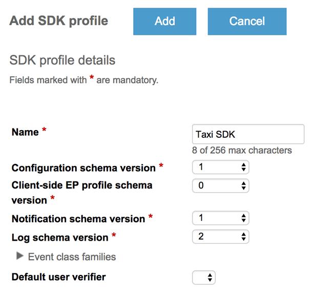 KaaIoT - SDK profile