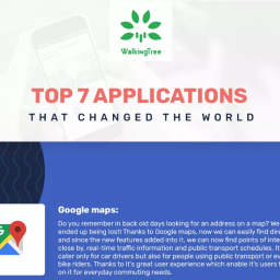 7 Applications that changed the world - Infographics - WalkingTree Infographics